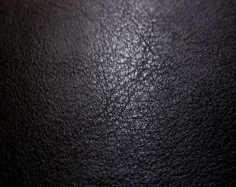 Faux Leather Fabric In Lambskin Pattern   Black   Large Fat Quarter   Vegan  Leather