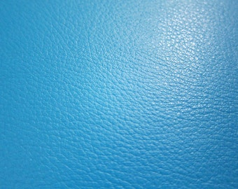 Faux Leather Fabric in Lambskin Pattern - Bright Blue - Large Fat Quarter - Vegan Leather