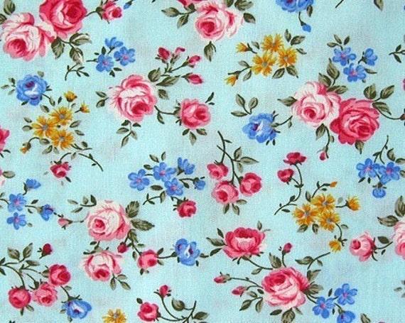 Japanese Cotton Fabric - Romantic Roses - Half Yard