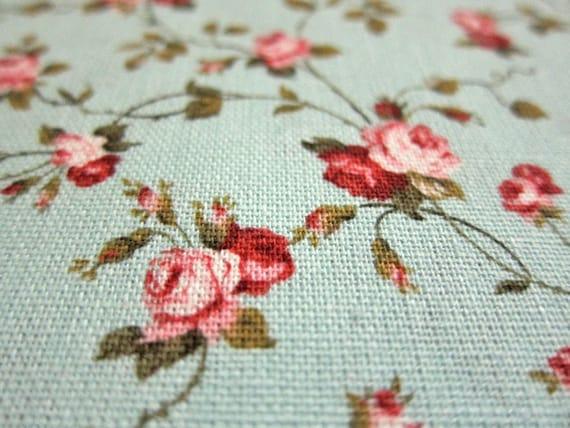 Japanese Cotton Fabric - Floral Dream on Light Blue - Half Yard LAST PIECE