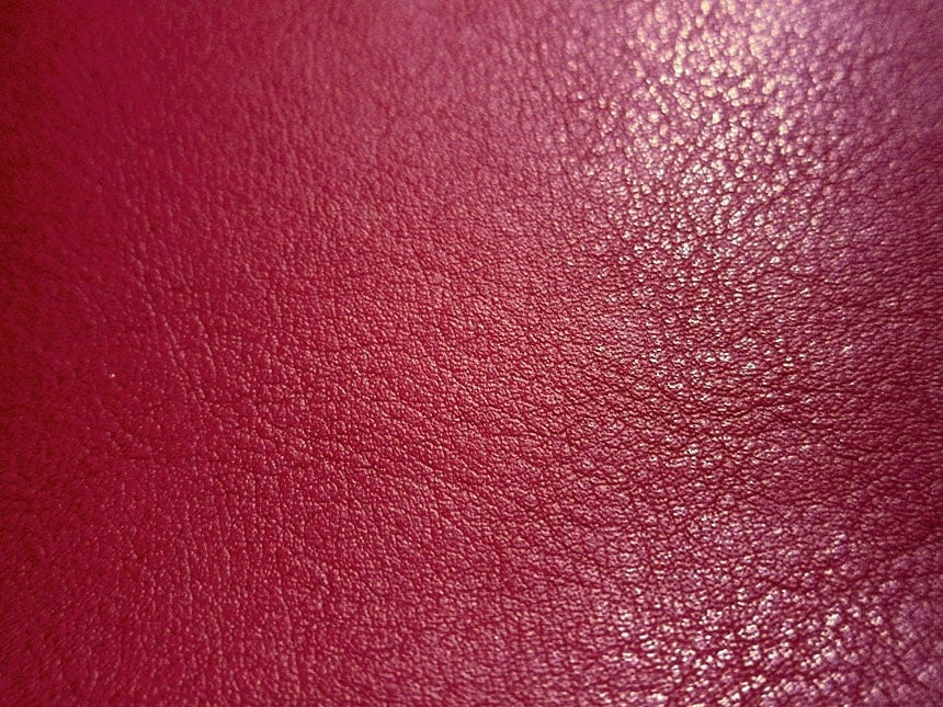 Faux leather fabric in lambskin pattern dark red half yard for Red leather fabric