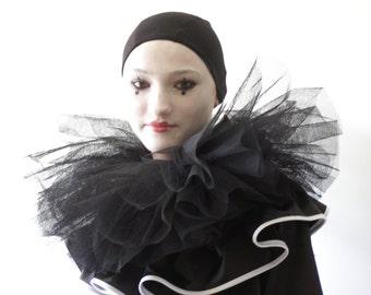 Black Pierrot  Whiteface  Costume
