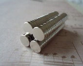 100 Strong Neodymium Silver Crafting Magnets 1/4 inch Diameter