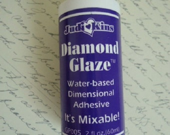 2 Ounce Bottle Judi Kins Diamond Glaze - Easy Use Applicator Tip for DIY Pendants