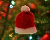 Knit Santa Hat Christmas Ornament