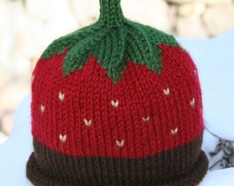 Chocolate Dipped Strawberry Hat - Baby