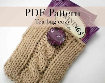 PDF Knitting Pattern - Tea Bag Holder  (with permission to sell finished item)