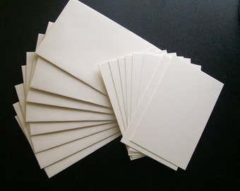 Enclosure Cards and Envelopes- Blank-White Color
