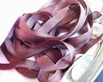 Vintage- Seam Binding- Chocolate Brown-Ribbon-Silky