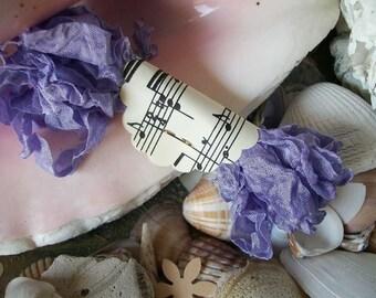 Seam Binding- Crinkled-Lilac-Silky-Shabby-Ribbon