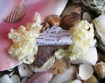 Seam Binding- Crinkled-Butter Cream-Silky-Shabby-Ribbon