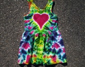 Toddler Heart Tie Dye Tank Dress