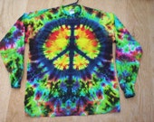 Tie Dye Long Sleeve Peace Sign Size XL
