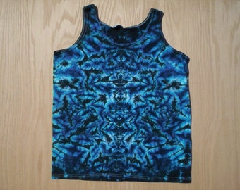 Midnight Blue Ladies Tie Dye Tank Top Size 2X