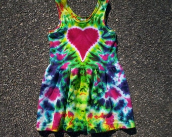 Heart Tie Dye Tank Dress Youth Size 8