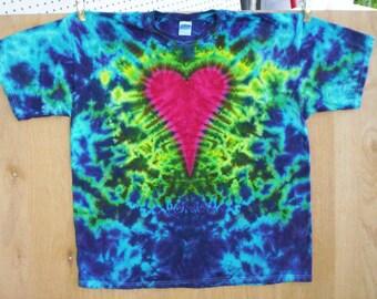 Heart Tie Dye Size 2XL