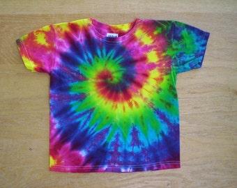 Childrens-Happy Rainbow Tie Dye Size Youth Small