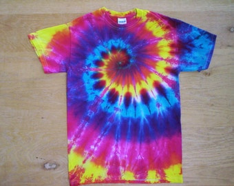 Childrens-Beautiful Spiral Tie Dye Size Youth Large
