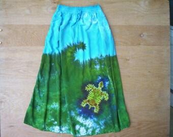 Swimming Turtle Tie Dye Dress Ladies/Girls Size L/XL