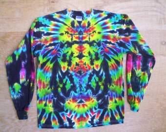Tie Dye Long Sleeve Crazy Totem Size Medium