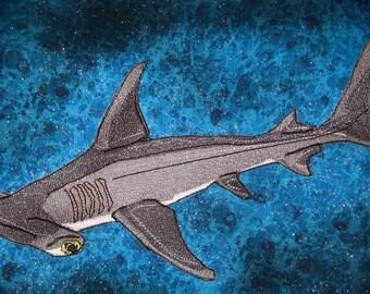 Great Hammerhead Shark Sphyrna mokarran Iron on Patch