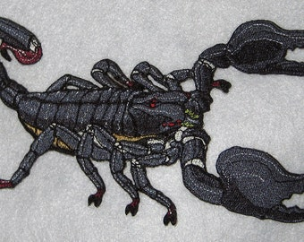 "Emperor Scorpion  ""Pandinus imperator"" Steam Punk  Iron on Patch"
