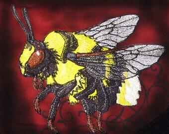 Epic Bumble Bee  Bombus polaris Steam Punk  Iron on Patch