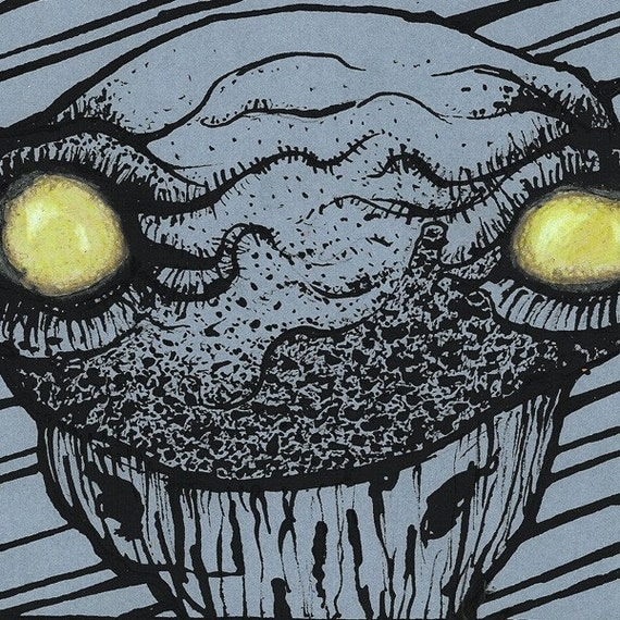 134- Original Monster Art by Harry
