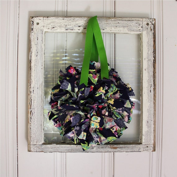 Bouquet Small Sized Rag Wreath with Amy Butler Fabric