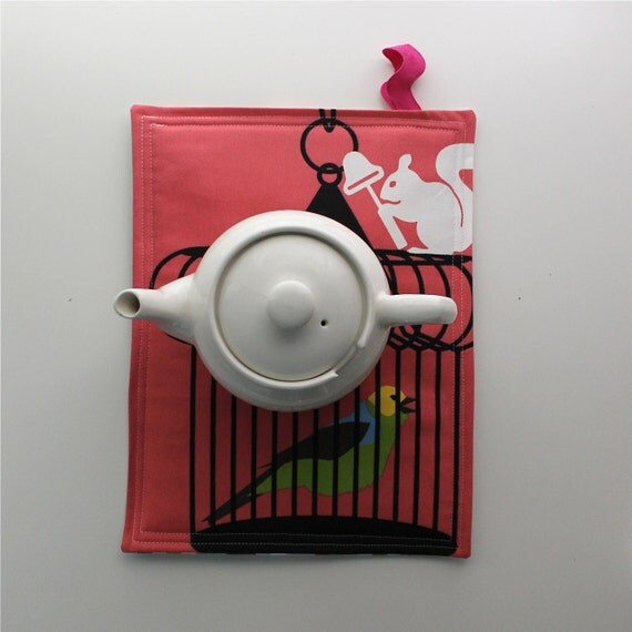 Weird Scenes Pot Holder with IKEA Fabric