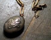 Locket of Elyria. Antiqued Silver Perfume Necklace.