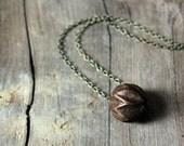 Genesis. Carved Wood Bead Necklace.