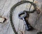 The Sentinel. Antique Skeleton Key Necklace.