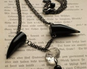 The Underworld. Black Agate Fang Necklace.