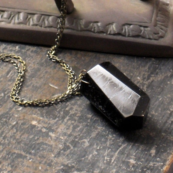 Monolith. Huge Black Tourmaline Necklace.