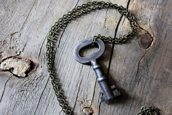 The Sentinel. Antique Skeleton Key Necklace.
