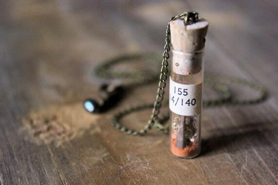 The Alchemist : Finding No. 155. Vintage Vial Pendant Necklace.