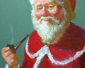 Saint Nicholas Original Painting (RESERVED FOR nootsie1) by Cecil Irving