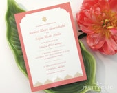 Alhambra Wedding Invitation Suite - Moorish Indian Palace by Pretty Chic SF