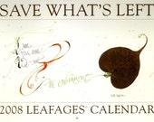 2008 Calendar with pressed leaves and calligraphy