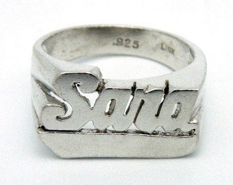 Sara - name ring in sterling silver