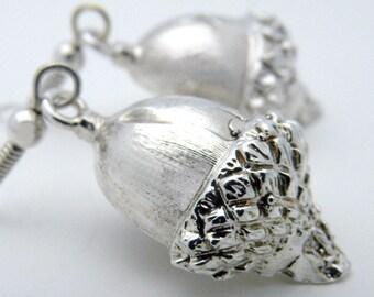 Acorn earrings in sterling silver