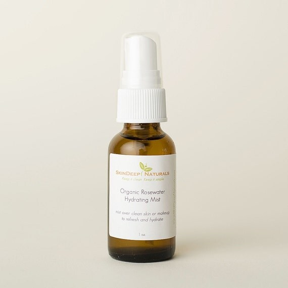 Organic Rose Water Hydrating Mist - Available in 2 or 4 oz. size