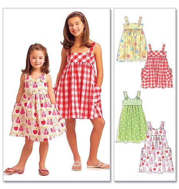 McCall&39s M5613 Girls Summer Dress Pattern New Uncut by graybymsk