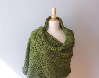 Knit Dublin Wrap Pattern - Instant PDF Download