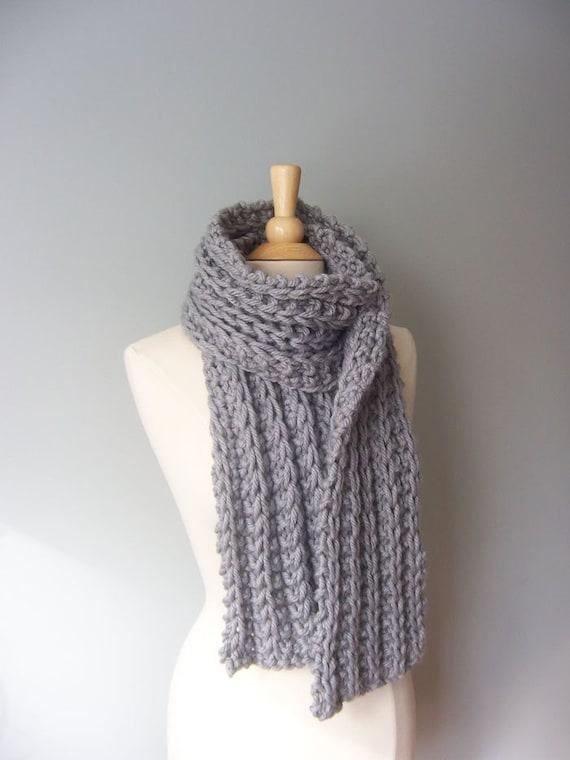 Knit Scarf Pattern Chunky Scarf Pattern Easy Knit Pattern