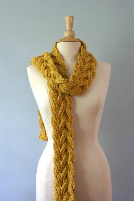Handmade Knit Aspen Scarf