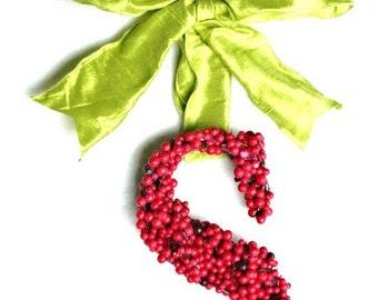 Christmas Holly Berry Door Wedding Wreath 8 Inch