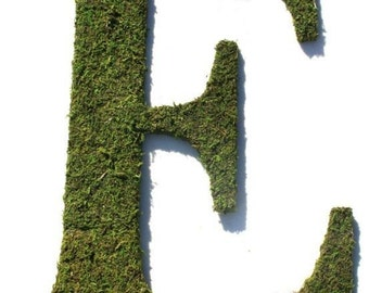 Moss Covered 24 Inch Wedding Wreath Letter Initial Monogram