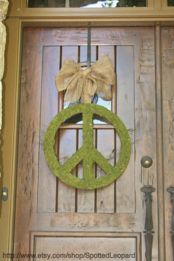 18 Inch Peace Sign with Ribbon